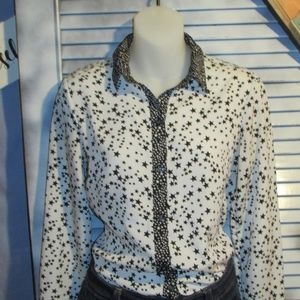 New York & Company XS Starry button down shirt